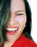 Glückliche lachende Schönheit Stockfotografie