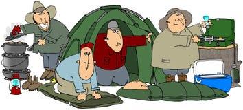 Glückliche Lagerbewohner Lizenzfreie Stockbilder