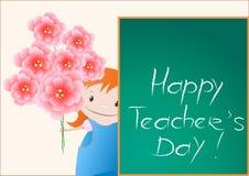 Glückliche Lehrer-Tageskarte Lizenzfreies Stockbild