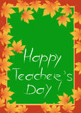 Glückliche Lehrer-Tageskarte Stockbild