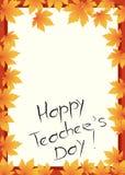 Glückliche Lehrer-Tageskarte Lizenzfreie Stockfotografie