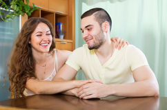 Glückliche liebevolle Paare Stockfoto