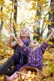 Glückliche Mama und die Tochter Stockfotografie