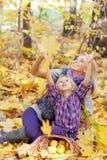 Glückliche Mama und die Tochter Stockfoto