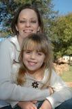 Glückliche Mamma und Tochter Lizenzfreie Stockfotos