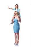 Glückliche Mamma und Tochter Lizenzfreies Stockfoto