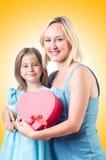 Glückliche Mamma und Tochter Stockfotos
