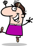 Glückliche Mannkarikaturillustration Lizenzfreie Stockfotografie