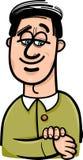 Glückliche Mannkarikaturillustration Stockbilder