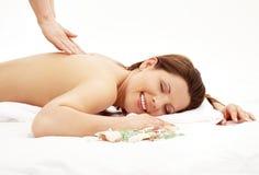 Glückliche Massage Lizenzfreie Stockfotos