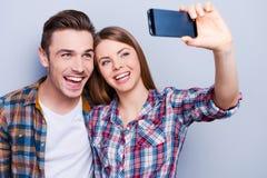 Glückliche Momente zusammen gefangennehmen Lizenzfreie Stockfotos