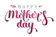 Glückliche Mother's-Tageshandbeschriftung Lizenzfreies Stockbild