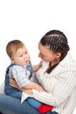 Glückliche Mutter mit Baby stockfoto