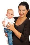 Glückliche Mutter mit Baby Stockbilder