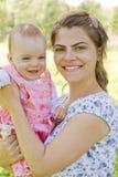 Glückliche Mutter mit Kind Lizenzfreies Stockfoto