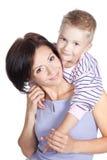 Glückliche Mutter mit kleinem Sohn Stockfotografie