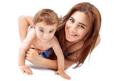 Glückliche Mutter mit Schätzchen Stockfotografie