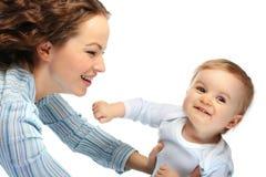 Glückliche Mutter mit Sohn Stockfotografie
