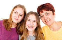 Glückliche Mutter mit Töchtern Lizenzfreies Stockfoto