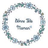 Glückliche Mutter ` s Tageskarte auf französisch Lizenzfreie Stockfotos