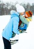Glückliche Mutter und Sohn lizenzfreie stockfotografie