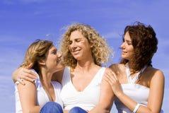 Glückliche Mutter und Töchter Stockbilder