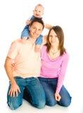 Glückliche Mutter, Vater und Sohn lizenzfreies stockfoto