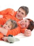 Glückliche Muttergesellschaft stockfoto