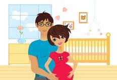Glückliche Muttergesellschaft zum zu sein Stockbild