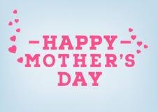 Glückliche Muttertagaufschrift auf unscharfem weichem Hintergrund Feiergruß-Kartendesignschablone Lizenzfreies Stockbild