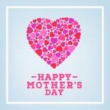 Glückliche Muttertagaufschrift auf unscharfem weichem Hintergrund Feiergruß-Kartendesignschablone Stockfoto