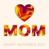 Glückliche Muttertageseinladungskarte Stockbild