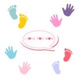 Glückliche Muttertagesgrußkarte lizenzfreie abbildung