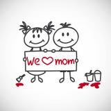 Glückliche Muttertageskarte stock abbildung