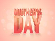 Glückliche Muttertagfeier mit Text 3d Stockfotografie