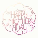 Glückliche Muttertagkarte Lizenzfreie Stockfotos