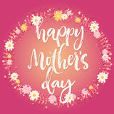 Glückliche Muttertagrosa-Grußkarte Stockbild