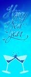 Glückliche neue Jahre Fahnen- Stockbilder