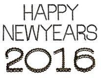 Glückliche newyears 2016 Lizenzfreies Stockbild