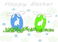 Glückliche Osterhasen-Ei Templete Karte Lizenzfreies Stockbild