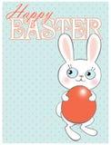 Glückliche Osterhasen-Eijagd Stockbild