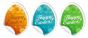 Glückliche Ostern-Aufkleber. Stockbilder