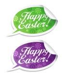 Glückliche Ostern-Aufkleber. Lizenzfreie Stockfotografie