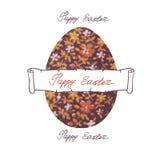 Glückliche Ostern-Aufkleber Lizenzfreies Stockbild