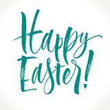 Glückliche Ostern-Beschriftung stock abbildung