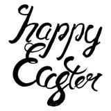 Glückliche Ostern-Beschriftung Ausweis und Karte für Feier Ostern d Stockfoto