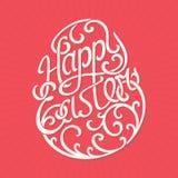 Glückliche Ostern-Beschriftung - Vektor-Illustration Lizenzfreie Stockfotos