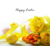 Glückliche Ostern-Dekoration Stockbild