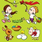 Glückliche Ostern-Elemente lizenzfreie abbildung
