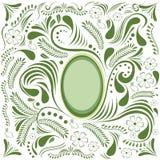 Glückliche Ostern-Green Card Stockbild